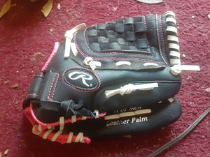 "NEW Rawlings WFP115 Girls Fast Pitch Softball Glove 11.5"" Black w/ Pink Trim RHT for Sale in Middleburg, FL"