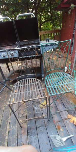 2 metal bar chairs for Sale in Canby, OR