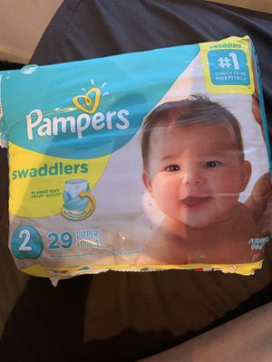 Pampers swaddlers size 2 for Sale in Dallas, TX