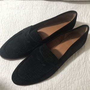 Beautiful black suede ladies loafers women's size 8 for Sale in Huntington Beach, CA