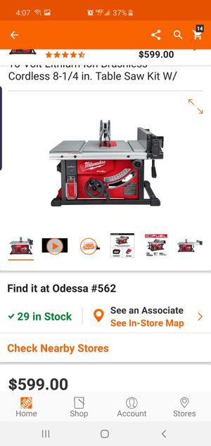 Milwaukee table saw for Sale in Odessa, TX