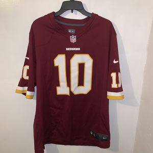 Washington Redskins NFL Football Team Jersey Men's Size Large Quarterback Robert Griffin III the Third Player Number 10 On Field Nike Brand for Sale in Trenton, NJ