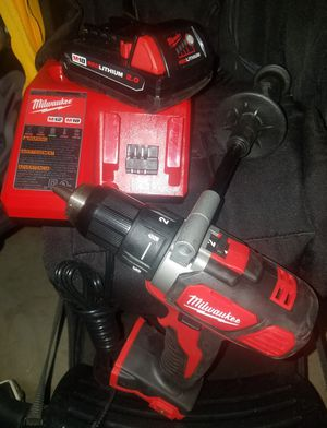 """BRAND NEW MILWAUKEE M18 1/2"""" DRILL DRIVER WHITC ONE BATERY AND CHARGER. for Sale in Ceres, CA"""