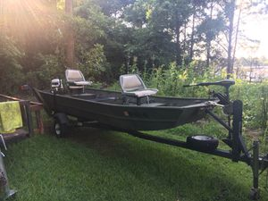 14' boat motor &trailer for Sale in Pontotoc, MS