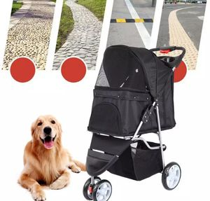 Pet Dog Puppy Cat Travel Stroller Pushchair Jogger Buggy Swivel 3 Wheels for Sale in Yuba City, CA