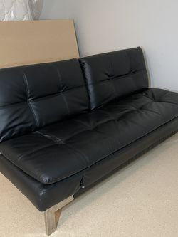 IKEA Black Leather Futon for Sale in Hillsboro,  OR