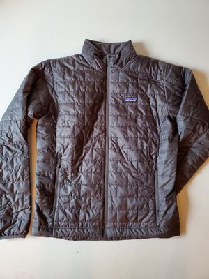 Patagonia Mens Nano Puff jacket medium in forge grey for Sale in Seattle, WA