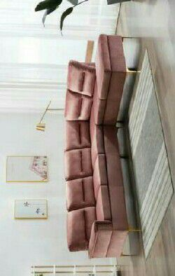 Vogue Pink Velvet Sectional Couch Sofa for Sale in Houston, TX