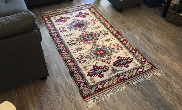"""Vintage Oriental Persian/Turkish Handmade """"Kozak"""" Rug"""