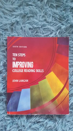 Ten Steps to improve college reading skills by John Langan for Sale in Clackamas, OR