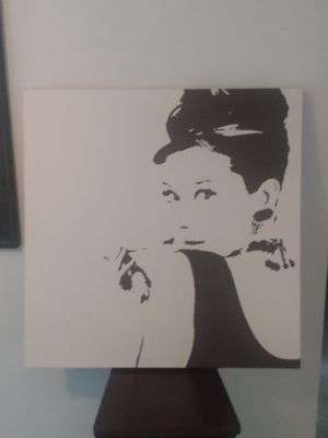 Audrey Hepburn canvas for Sale in Tacoma, WA