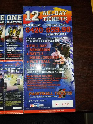 Paintball Tickets for Sale in Chico, CA