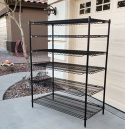 HAS 6 SHELVES! METRO RACK 4 Ft Wide 2 Ft Deep! Heavy Duty Wire Bakers Shelf Shelving for Sale in Buckeye,  AZ