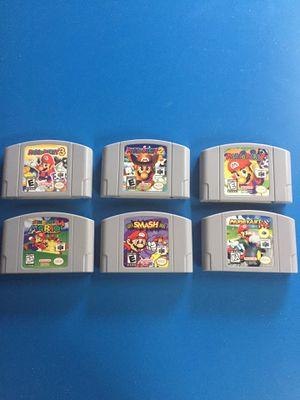 Mario Party 1 2 3 Smash Bros Mario Kart Super Mario n64 Nintendo games bundle for Sale in Laguna Beach, CA