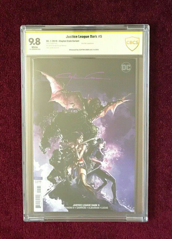 Comic books Justice League Dark #5,6 and 11 signed and graded
