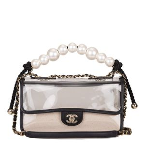 """Chanel Transparent """"Sand By The Sea"""" Pearl Flap Bag for Sale in Orlando, FL"""