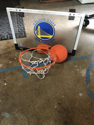 Mini Golden State Warriors basketball hoop for Sale in San Leandro, CA