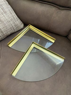 Corner glass wall shelves for Sale in Ripon, CA
