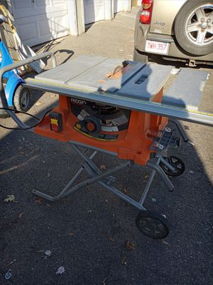 Ridgid table saw great condition r4513 for Sale in Boston, MA