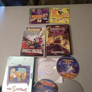 9 DVD Movie Cartoon Special Features Video Games Lot Will Not Separate for Sale in Puyallup, WA