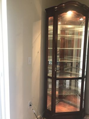 Woodley's Glass China Cabinet for Sale in Colorado Springs, CO