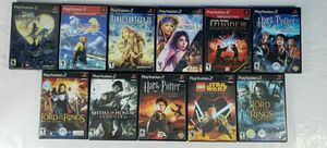 Playstation 2 Game Lot Final Fantasy Harry Potter Lord of the Rings Star Wars for Sale in CANAL WNCHSTR, OH