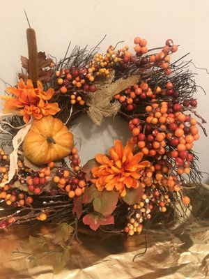 GORGEOUS FALL TWIG & BERRY WREATH (FAUX) for Sale in Riverside, CA