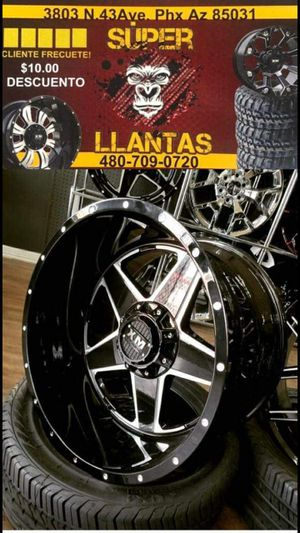 33 1250 20 RIMS AND TIRES for Sale in Phoenix, AZ