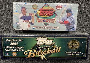 2000 & 2004 Sealed Unopened Topps Baseball Card Factory Sets for Sale in Brea, CA