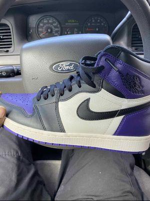 Air Jordan 1 court purple for Sale in Atlanta, GA