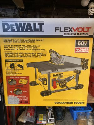 """Dewalt 8-1/4"""" tables saw 60v battery powered for Sale in Grafton, MA"""