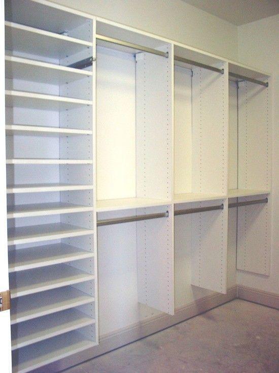 Custom made closet organizers, shelving
