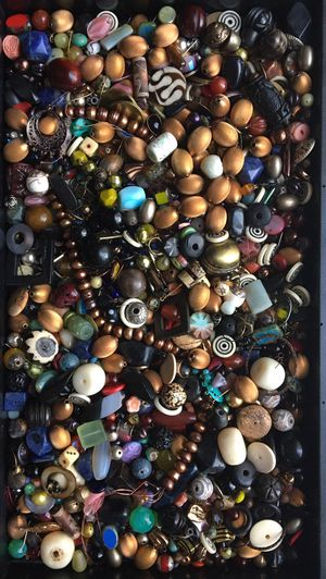 Huge mix of rich color gemstone & glass beads for jewelry making for Sale in Seattle, WA
