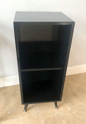 Cute black storage shelving bookcase for Sale in Las Vegas, NV
