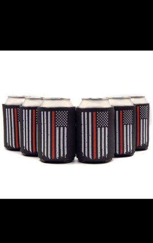 6 Thin Red Line Flag Can Coolers for Sale in Boston, MA