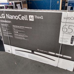 65'Lg Nano Cell 9 Series 4k Suhd Hdr 120hz 2.1 Hdmi Full Array Ai ThinQ Dolby Atmos Smart Tvs 2020 for Sale in Long Beach, CA