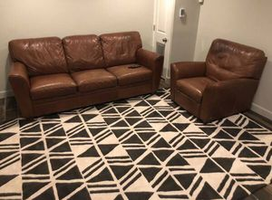 Natuzzi leather couch and recliner! Excellent condition! for Sale in Washington, MD