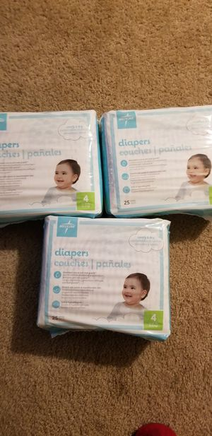 3 packaging diapers size 4 for Sale in Happy Valley, OR