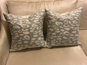 "Two West Elm 20"" Down Pillows Throw Pillows Sofa Cushions for Sale in Tacoma, WA"