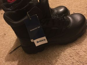 Size 9 new bates work boots still has tag for Sale in Trenton, NJ