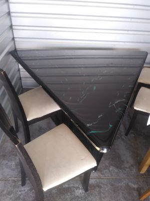 Elegant dining Table 4 chairs! Delivery available! for Sale in Miami, FL