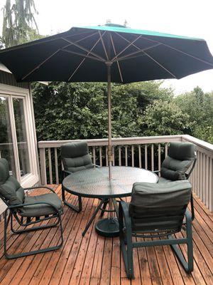 7 Piece Tropitone Outdoor Patio Furniture Set w/ Umbrella for Sale in Woodinville, WA
