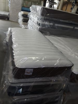 I'm selling a twin sz pillow top Mattress,its a very soft pillow top,has a factory warranty, new in plastic Mattress only =$165.00. for Sale in Riverside, CA
