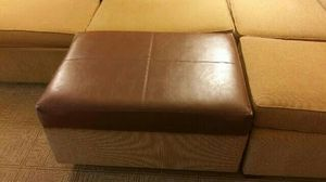 Leather ottoman for Sale in Dearborn, MI
