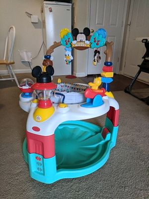 Baby Mickey mouse camping activity saucer for Sale in Germantown, MD