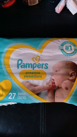 Pampers preemie Swaddlers p1 27 diapers $3 for Sale in San Diego, CA