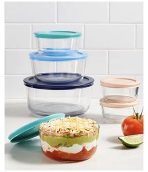12 Glass Piece Pyrex Containers for Sale in Pomona, CA