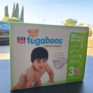 Size 3, 80 Pack Of Tugaboos Diapers for Sale in Anaheim, CA