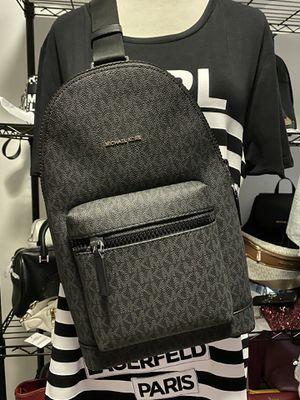 NWT Michael Kors Men's Black Cooper Slingpack Bag Backpack for Sale in Temple City, CA