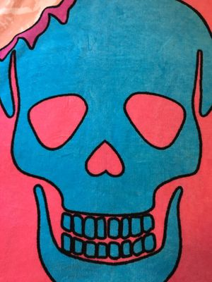 """Sugar Skull Beach Towel. 35"""" by 66"""" for Sale in Chicago, IL"""